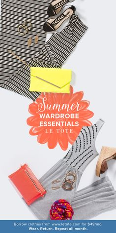 Summer Wardrobe Essentials - Rent Clothes Online with Le Tote Rent Clothes, Clothes For Women, Le Tote, Summertime Outfits, Summer Fashion Outfits, Summer Wardrobe, Essentials, Outfit Ideas, Style Inspiration