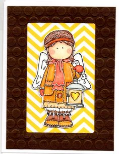Angel Card handmade