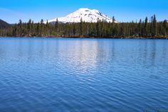 Lava Lake and Mount Bachelor, Bend, Oregon