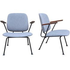 Two 1950s Dutch Armchairs by W. H. Gispen Edition Kembo