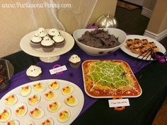 Parties On A Penny: Halloween Glam Party -Budget Revealed Dinner Party Recipes, Party Snacks, Appetizers For Party, Holiday Recipes, Holiday Ideas, Party Food On A Budget, Cooking On A Budget, Budget Meals, Cooking Food