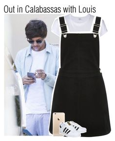 """Out in Calabassas with Louis"" by lucybitch ❤ liked on Polyvore featuring RE/DONE, Oasis and adidas"