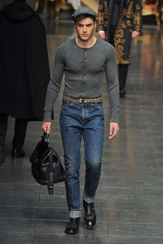 Ripped Denim Jeans for Men | ... Gabbana Dolce & Gabbana Slim Fit ...