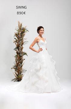 SWING One Shoulder Wedding Dress, Marie, Wedding Dresses, Collection, Fashion, Princess Silhouette, Atelier, Sleeved Wedding Dresses, Dress Ideas
