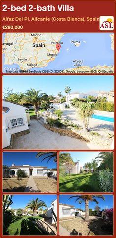 2-bed 2-bath Villa in Alfaz Del Pi, Alicante (Costa Blanca), Spain ►€290,000 #PropertyForSaleInSpain