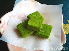 Matcha no Nama-Choko Matcha Green Tea, Throw Pillows, Meal Ideas, Ramen, Fresh, Food, Sweet, Desserts, Recipes