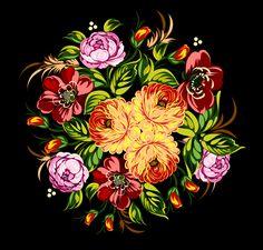 Beautiful flower retro vector graphics 02