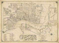 Historical Maps, Map Of Jacksonville Fl, Papers Co, The St, The Neighbourhood, Vintage World Maps, Prints, The Neighborhood