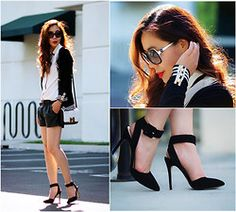 Cardigan, Bag, Giveaway Shoes - Black n White n Giveaway - Hallie S.