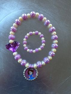 Sofia The First Stretch Necklace and by GraceandGreenBeans on Etsy, $14.00 gift for Mish