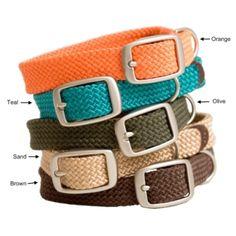 Mendota Twist Series Double Braid Puppy Collar | Mendota Products Twist Series Collars & Leads.  Teal please