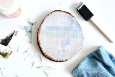 Wood Photo Transfer - A Simple Tutorial Using Mod Podge - The Crazy Craft Lady Picture Onto Wood, Picture Transfer To Wood, Transfer Images To Wood, Wood Transfer, Photo On Wood, Mod Podge Photo Transfer, Picture Ornaments, Wood Ornaments, Mod Podge On Wood