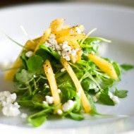 Green peach salad with feta