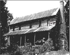 This structure was built in the late 1700's or early 1800's. Oral history says this house was built by the Cherokee chief Doublehead, who died in 1807.