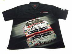 Dodge Motorsports XL Car Truck Racing Button Up Bowling Shirt Men's Black #Dodge #ButtonFront