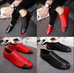 f4b04e781460 New Fashion Leather Slip On Mens Driving Moccasin Loafer Casual Shoes.  Slávnostné TopánkyTopánky OxfordMokasínyPánske ...
