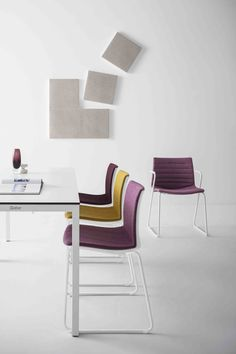 KANVAS 2  is the natural, roomy and coMfy, upgrade of our lightest collection of stacking chairs and stools. Designed with a beautiful sculpted back, KANVAS 2 has a gently controlled flex that moves with the user's bodyweight to provide comfort, even for extended periods. www.gaber.it #designchair #interiordesign