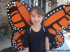How to Make Monarch Butterfly Wings | Peace but Not Quiet