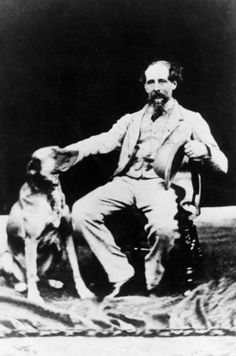 A slice of history - Charles Dickens and his faithful dog.