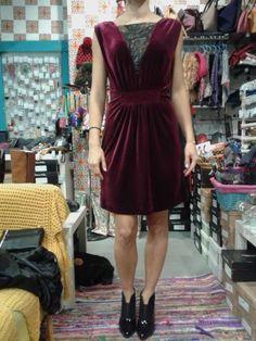 black velvet dress *double wear Eleria Cortes   fashion shoes ...