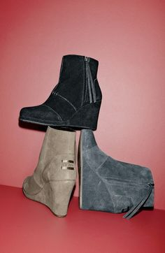 adorable wedge high booties!!!!  TOMS!!