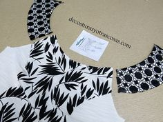 VESTIDO EN BLANCO Y NEGRO | De costuras y otras cosas | Bloglovin' Altering Clothes, Beautiful Blouses, Fashion Sewing, Dressmaking, Baby Dress, Daisy, Sewing Patterns, Bridesmaid Dresses, Womens Fashion
