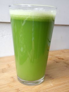 Fresh Green Celery Spicy Juice.