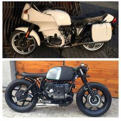 by @grabek_piercing BEFORE & AFTER. #bmw #boxertwin #custom #bike #motorcycle #bratstyle #scrambler #caferacer #instamoto #stocksucks #builtnotbought #kustom #kulture