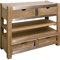 Featuring four drawers and a wine bottle storage rack, this sideboard is a versatile addition to your industrial-inspired space or country kitchen. Store you...