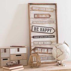 Tableau en bois 36 x 73 cm GOOD ADVICES Good Advice, Entryway Bench, Graphic, Bb, Furniture, Artwork, Home Decor, Wood Pictures, Home