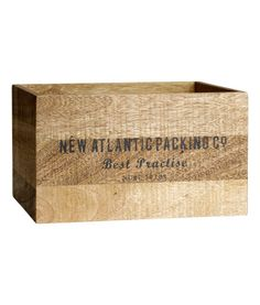Wooden Box   Product Detail   H&M