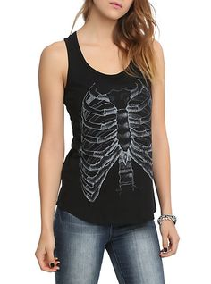 Rib Cage X-Ray Girls Tank Top | Hot Topic