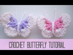 Easy Crochet 3D Butterfly Free Pattern-Video