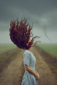 ethereal portrait / wild hair by photographer @monicalazar 2015-12 (via ello - the anti-fb ; )