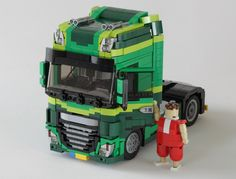 Two Elves returned to the office today, each with a wonderfully realistic Model Team truck, each of which conceals a full Power Functions remote control drivetrain inside. Lego Van, Lego Truck, Lego Worlds, Gmc Trucks, Legos, Cool Stuff, Toys, Lego Stuff, Vehicles