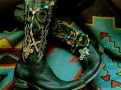Royceware Twin Jewels... turquoise, citrine, & Cowboy boots