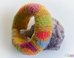 Items similar to Bright Felt Cuff Bracelet of boho wool felt bracelets on Etsy Felt Bracelet, Bracelet Making, Wet Felting, Boho, Wool Felt, Lana, Bright, Etsy, Felted Jewelry