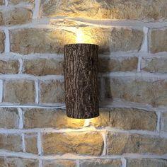 Rustic Wall Light Log Light Log Lamp Light Fixture Sconce