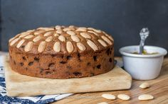 This is proper traditional Dundee Cake, and it's glorious! Basic Cake, Dundee, Chocolate Brownies, Quick Bread, Something Sweet, Recipies, Traditional, Baking, Breakfast