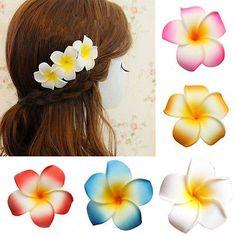 50XFoam Frangipani Hawaii Plumeria Flower Heads Wedding Party Birthday Decor in Home, Furniture & DIY, Wedding Supplies, Flowers, Petals & Garlands | eBay
