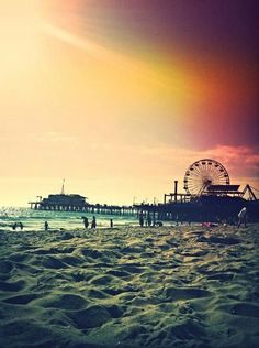 I would also have fun tanning on the beach and watching the sunset on a perfect California day!