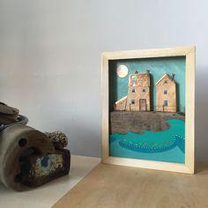 mixed media - coastal shadow box