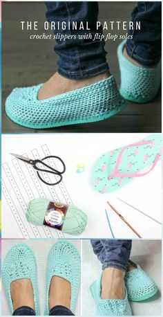 Crochet Slippers with Flip Flop Soles - Free Crochet Pattern