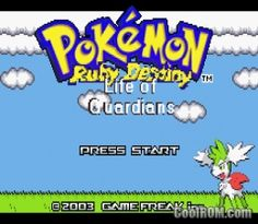 Pokemon Ruby Destiny - Life of Guardians (Hack) ROM Download for Gameboy Advance / GBA - CoolROM.com