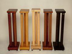 Wooden Speaker Stands, Bookshelf Speaker Stands, Wooden Speakers, Diy Speakers, Outdoor Speakers, Audio Stand, Sam Maloof, Audio Rack, Monitor Stand