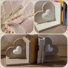 Reggi libri ♡ legno, gesso e fantasia