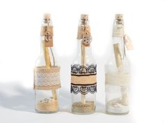 Message in the bottle style invitations perfect for weddings, birthdays, corporate events and other special occasions.