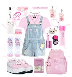"""""""B. Outfit #3 ddlg"""" by brokenbabydolly ❤ liked on Polyvore featuring Kipling, UNIF, Diptyque, Benefit, Topshop, Stargazer, Wet Seal, Accessorize, Anchor & Crew and Moleskine"""