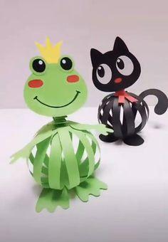 Craft Work For Kids, Diy Crafts For Kids Easy, Animal Crafts For Kids, Fun Diy Crafts, Preschool Crafts, Simple Origami For Kids, Crafts Fir Kids, Paper Crafts Origami, Paper Crafts For Kids