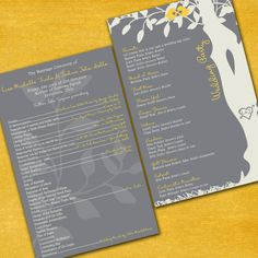 Wedding Programs  Love Bird Ceremony Programs  by InvitingMoments, Matching wedding programs! :) LOVE the bird theme